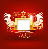 Red frame vector. Royalty Free Stock Photography