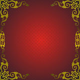 Red Frame With Golden Decor Royalty Free Stock Photography