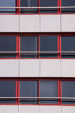 Red framed windows texture royalty free stock images