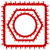 Red Frames Royalty Free Stock Images
