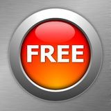 Red free button Royalty Free Stock Images