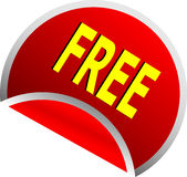 Red free button Royalty Free Stock Photography