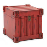 Red freight containers Stock Image