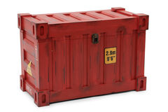 Red freight containers Royalty Free Stock Photography