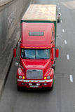 Red Freightliner truck Stock Photo