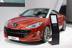 Red french peugeot rcz car Royalty Free Stock Images