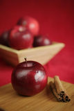 Red and fresh apple Stock Photos