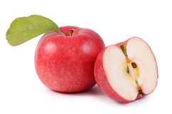 Red fresh apples isolated on white background Stock Image