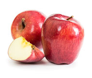 Red fresh apples Royalty Free Stock Photos