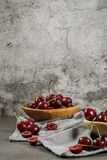 Red fresh cherries Royalty Free Stock Photo