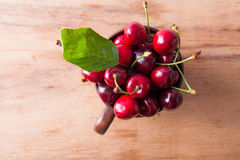 Red fresh cherry in cup Royalty Free Stock Photo