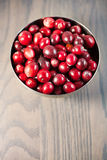 Red fresh cranberries in a bowl Royalty Free Stock Photo