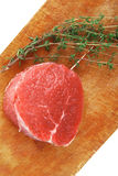Red fresh fillet chops : raw beef fillet Royalty Free Stock Photos