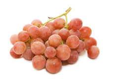 Red fresh grapes isolated Royalty Free Stock Images
