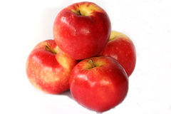 Red fresh juicy apples Stock Images