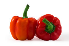 Red fresh juicy pepper isolated on white Royalty Free Stock Photo