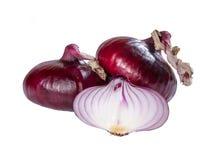 Red  fresh onion Stock Photos