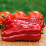 Red fresh pepper fruits Royalty Free Stock Image