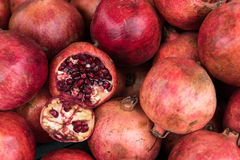Red fresh Pomegranate fruits Stock Image