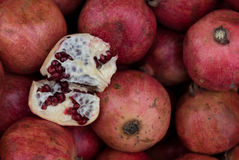 Red fresh Pomegranate fruits Royalty Free Stock Photography