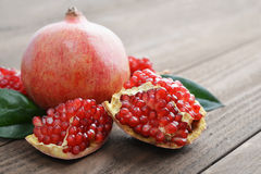 Red fresh pomegranate Royalty Free Stock Photography