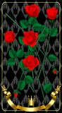 Red fresh roses Royalty Free Stock Images
