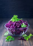 Red fresh sprouts in a cup of glass Royalty Free Stock Images