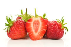 Red fresh strawberries Royalty Free Stock Image