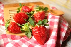 Red fresh strawberries for breakfast time Stock Photography