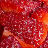 Red fresh strawberries prepared ready to be eaten Stock Photography