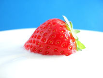 Red fresh strawberry royalty free stock images
