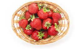 Free Red Fresh Strawberry In A Bowl On White Background Royalty Free Stock Image - 117543806