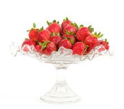 Red fresh strawberry in vase Royalty Free Stock Images