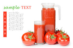 Red fresh tomato Stock Images