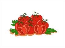 Red fresh tomato Royalty Free Stock Photos