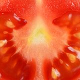The red fresh tomatoes cut Royalty Free Stock Image