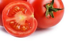 The red fresh tomatoes cut Stock Image
