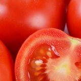 The red fresh tomatoes cut Royalty Free Stock Images