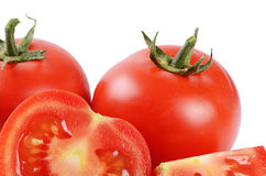 The red fresh tomatoes cut Royalty Free Stock Photography