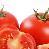 The red fresh tomatoes cut Stock Photo