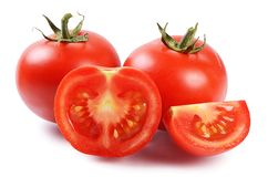 Free Red Fresh Tomatoes Isolated On White Stock Photography - 43240012