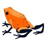 Red frog icon, cartoon style stock illustration