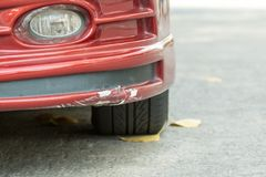 Red Front Bumper and Skirt broken Stock Images