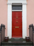 Red front door Stock Photography