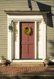 Red Front Door in Boston Royalty Free Stock Image