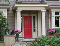 Red front door Stock Images