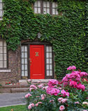 Red front door Royalty Free Stock Image