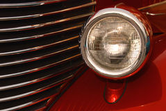 Red Front Light and Chrome Royalty Free Stock Images