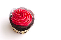 Red frosted cupcake Stock Photo