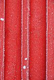 Red frosty wall Stock Images